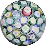 John Deacons Clichy-type roses mini glass paperweight