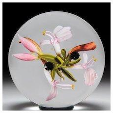 """Stankard Studio """"Honeysuckle Flowers"""" paperweight, by Christine Stankard Kressley"""