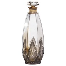 Vintage Glass Commercial Perfume Bottle by Julien Viard for Isabey Chypre Celtic c.1924