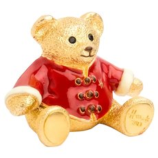 Limited Edition 2013 Harrods Christmas Bear Solid Perfume Compact by Estee Lauder