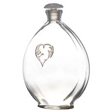Rene Lalique Commercial Glass Perfume Bottle For Arys L'Amour Dans Le Coeur c.1920