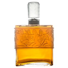 Giant Rene Lalique Designed Perfume Factice Display Bottle For Molinard