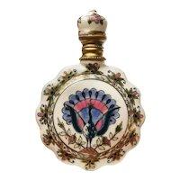 Zsolnay Ceramic Scent Bottle Hungary c1880