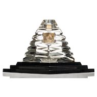 Vintage Commercial Perfume Bottle, Lucien Lelong Opening Night, Glass Pyramid with Base c.1938
