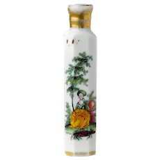 Antique Milchglas Scent Bottle Bohemian 18th or Early 19th Century