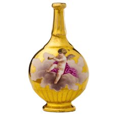 Meissen Gilded Porcelain Scent Flask With Putti German 19th Century