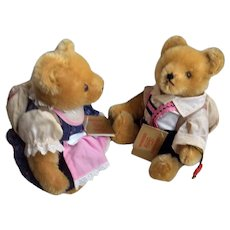 Alpine school Boy and Girl Teddy Bears by Hermann