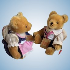 Alpine school Boy and Girl Teddy Bears by Hermann