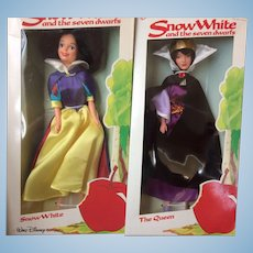 """Snow White and The Queen  11 1/2"""" Dolls"""