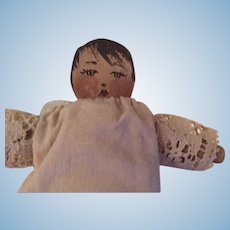 Small all cloth doll by Charmaine Talbot in 1986