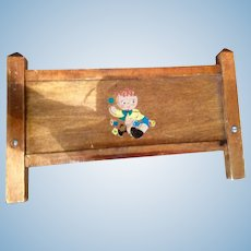 Wooden Baby Doll Crib 1930s