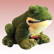 """Rare Steiff Cosy Froggy 1980's 5"""" by 6"""""""