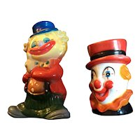 Two vintage style clown banks