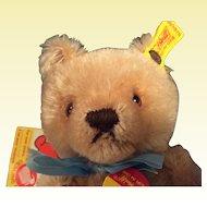 7 1/2 Steiff Teddy Original Mohair Jointed Bear