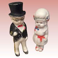 Bisque Bride and Groom from 1950s made in Japan