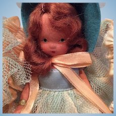 Bisque Story Book Doll - 5 1/2 Marley in original box