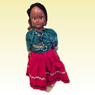 3 Native American Dolls, Mother with papoose, Toddler doll and a frozen Charlotte doll