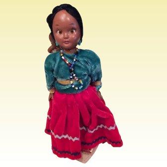 3 Native American Dolls