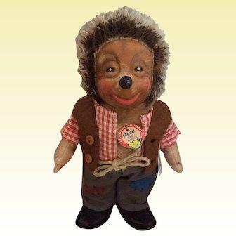 Steiff Mecki Hedgehog Produced in 2000