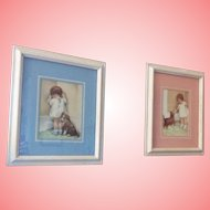 Two Bessie Pease Gutman Vintage framed and Matted prints