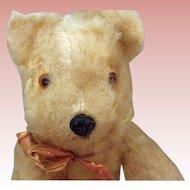 "Unmarked Vintage Golden Mohair Bear 8"" 1940s"