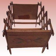 Vintage Accordian  Folding  Doll  bed/crib. 1930's