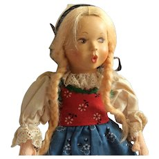 """Baitz """"Tyrol"""" Whistler Girl Doll in native costume 9"""" - Red Tag Sale Item"""