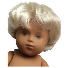 "Sasha Baby Doll Unisex , Blonde Hair, Brown Eyes 12"""