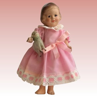 """Rare R and B Composition Little Bo Peep Doll. 9"""""""