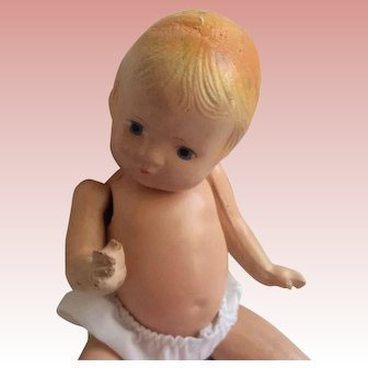 """Unmarked Patsy Type Composition Doll. 9 1/2"""""""