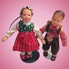2 Kathe Kruse Conventions Dolls Rudi and Kira