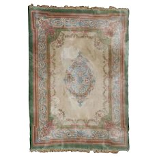 Vintage French Savonnerie Oriental Carpet, approx 12'x15', circa 1950