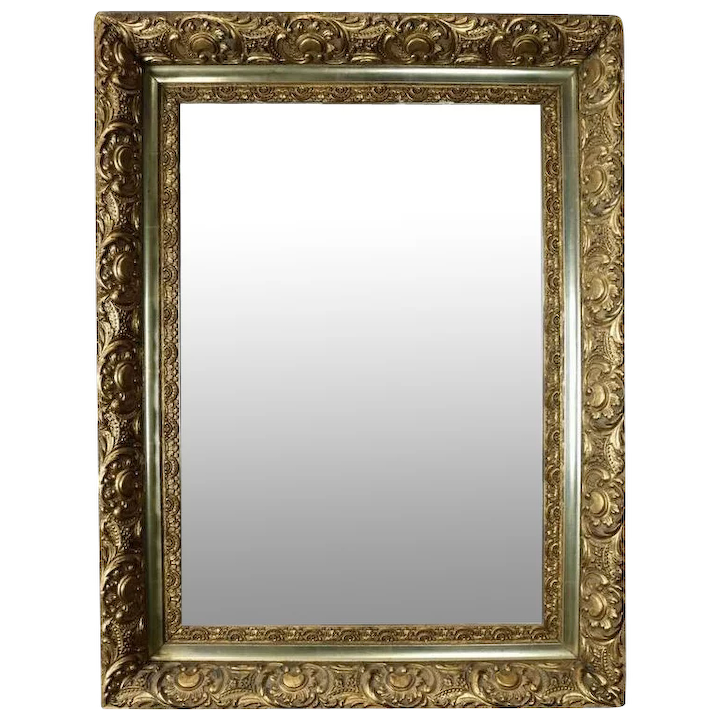 Antique French Style First Finish Gold Giltwood Framed Wall Mirror Antique Revival Ny Ruby Lane