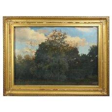 Hudson River School Impressionistic Landscape, Original Frame, circa 1890