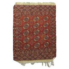 Antique Bokhara Nomadic Tribal Oriental Rug, circa 1900