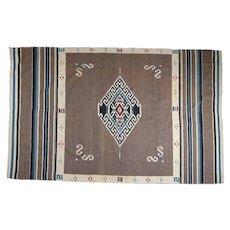 Antique Southwest Indian Saltillo Serape Blanket/Rug with Tribal Motif