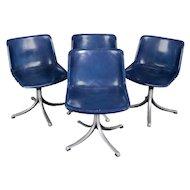 Set of Four, Mid-Century Modern Knoll School Bucket Chairs, 20th Century