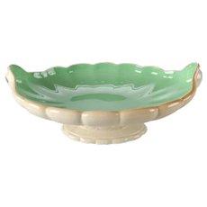 Antique Art Nouveau Cowan Art Pottery Scallop Form Pedestal Center Console Bowl