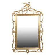 Federal Chippendale Style Giltwood Pierced Frame with Phoenix, 20th Century