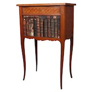 Antique French Louis XVI Style Satinwood Parquetry Book Table, 20th Century