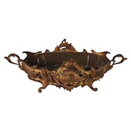 Antique French Rococo Gilt Bronze Pierced Footed Console Bowl, 19th Century