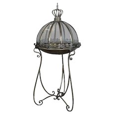 Hollywood Regency Domed Glass Terrarium Display, 20th Century