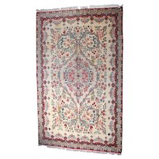 Vintage Isfahan Room Size Kirman Style Persian Carpet, 20th Century