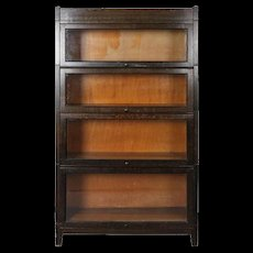 Antique Arts and Crafts Mission Oak Four-Stack Barrister Bookcase, 20th Century