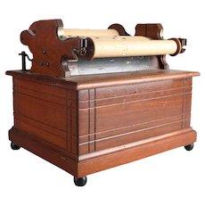 Antique Roller Organ in Ebonized Banded Walnut Case, 19th Century