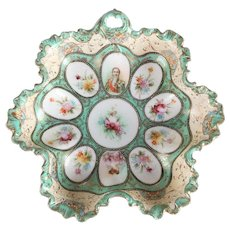 Hand-Painted and Gilt Sevres School Porcelain Portrait Cameo Bowl, 19th Century