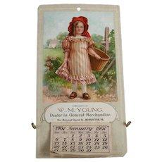 "Antique Victorian Complete 1907 ""The Little Marketer"" General Store Calendar"