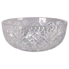 Waterford School Brilliant Cut Crystal Bowl, Pineapple Design, 20th Century