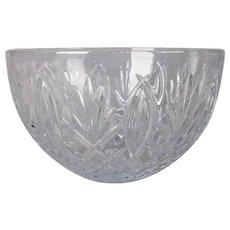 Irish Waterford Granville Cut Crystal Bowl, Artist Signed J. Perez, 20th Century