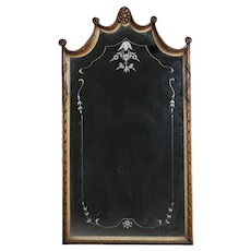 Vintage Venetian Style Carved, Gilt and Etched Lincoln Drape Wall Mirror